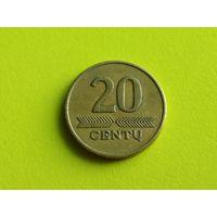 Литва. 20 центов 1997.
