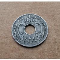 Протекторат Восточная Африка и Уганда, 1 пенни 1909 г., Эдуард VII (1901-1910)