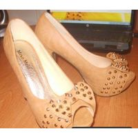 Шикарные туфли с открытым носом, р-р 38