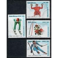 Гвинея - Бисау /1988/ Спорт / Зимняя Олимпиада / Калгари-88 / 4 Марки из серии