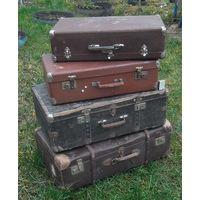 Старые чемоданы из СССР. Прим 40-50 годы прошлого века. Цена за 4 шт.
