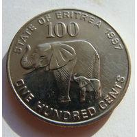 Эритрея 100 центов 1997 г