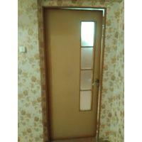 Дверь межкомнатная, ламинированная, с стеклянной вставкой