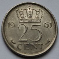 25 центов 1961 Нидерланды