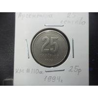 25 сентаво Аргентины 1994 года. 2