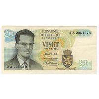 20 франков 1964 года Бельгия