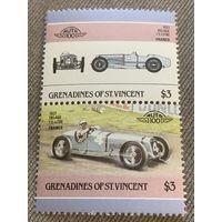 Гренадины и Сент-Винсент. Автомобили мира. Delage 1-5 litre 1927. Марка из серии