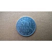 """Веймарская республика. 500 марок, 1923""""А"""" (а-3)"""