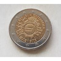 2 евро 2012 Австрия 10 лет наличному евро
