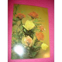 Открытка Композиция Цветы Розы(обрезана)