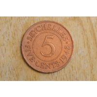 Сейшелы 5 центов 1948  Редкая!