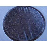Канада 1 цент 1920 г.