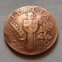 10 чентезимо, Италия 1938 г.
