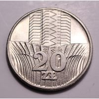 """Польша, 20 злотых 1973,1974,1975 (""""Колосья""""),1974-1977 (""""Новотко""""), 1987,1989, 1990 год."""