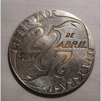 Португалия 1000 Эскудо 1999 25 лет демократи Серебро (2)