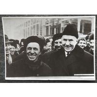 Фото из СССР. Косыгин А,Н. среди трудящихся г.Гродно. 1968 г. 8х11 см