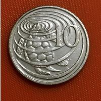 105-05 Каймановы острова, 10 центов 2013 г. Единственное предложение монеты данного года на АУ