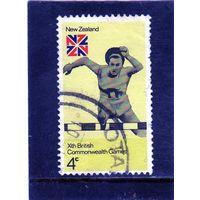 Новая Зеландия.  Mi:NZ 620. Барьерный бег. Серия: Х Британские Игры Содружества.1974.