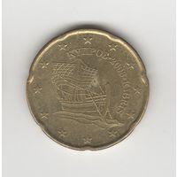 20 евроцентов Кипр 2008. Лот 5229