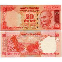 Индия. 20 рупий (образца 2010 года, P96i, буква R, UNC)
