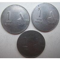 Индия 1 рупия 2009, 2010, 2011 гг. Цена за 1 шт. (g)
