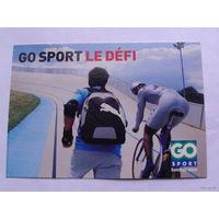 Франция открытка  GO SPORT LE DEFI   распродажа