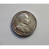 Германия, Пруссия 2 марки 1913 A  Вильгельм II - 25 лет правления, серебро