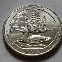 25 центов, квотер США, нац. парк Вояджерс, штат Миннесота, P  D