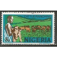 Нигерия. Скотоводство. 1973г. Mi#276.