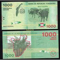 Бурунди 1000 франков 2015 года .    распродажа