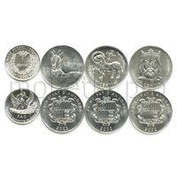 Андорра 4 монеты 1999-2002 годов