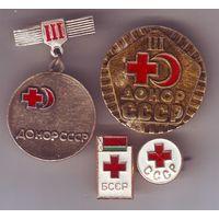 Донор, красный крест. 4 знака