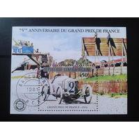 ЦАР 1981 Автогонки Париж-Дакар 1914 г. Блок Михель-6,0 евро гаш