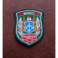 Шеврон РБ ПВ Брест пограничная группа вышитый серебро