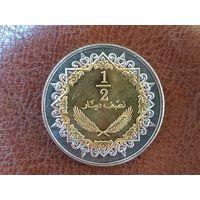 1/2 динара 2004 Ливия