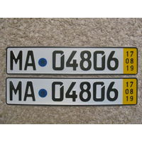 Автомобильный номер Германия MA04806