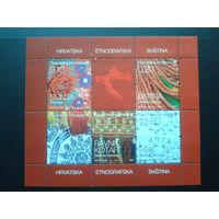 Хорватия 2008 блок к стандартной серии прикладное искусство