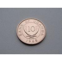 Уганда. 10 центов 1968 год KM#2