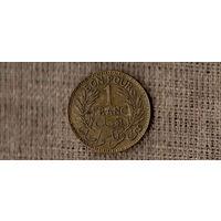 Тунис Французский 1 франк 1941 /(МР)