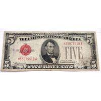 США 5 $ красная печать  1928 E