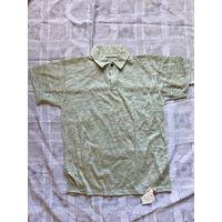 Майка футболка с воротничком и пуговками СССР 90-е гг Новая