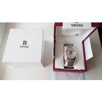 Швейцарские механические часы фирмы Carl F. Bucherer с позолоченным механизмом ЕТА, стрелки из золота. Сапфир. Автоподзавод. Новые.