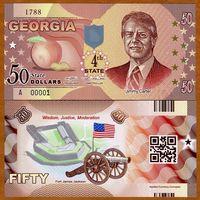 США - 50 Dollars - 4 штат Georgia - 2014 - Polymer - UNC
