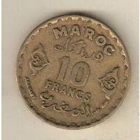 Марокко 10 франк 1952