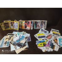 Карточки, наклейки, Bombibom,боевые самолёты, футбол,и разное, распродажа,(с рубля)