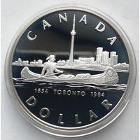 Канада, доллар,1984, серебро, пруф