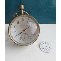 Настольные часы H.Moser  & cie в шаре 19век,+циферблат ,НЕ ХОДЯТ,С РУБЛЯ