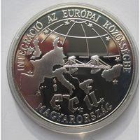 Венгрия, 500 форинтов, 1993, серебро, пруф