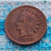 США 1 цент 1894 года. Индеец.