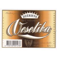 Этикетка апитка Veseliba